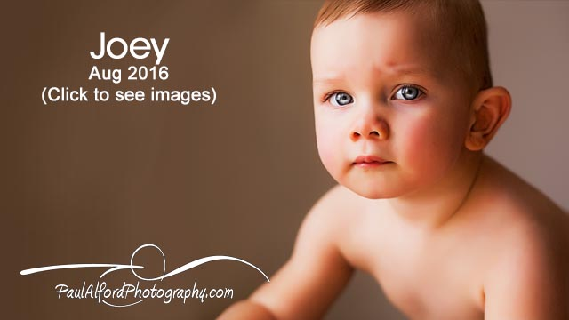 Joey's 1st Year Portraits