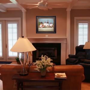 PR5 Frame displayed in the living room